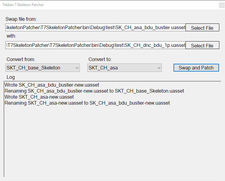 Tekken 7 – Skeleton Patcher (v1 0 1 update) – 0xB106